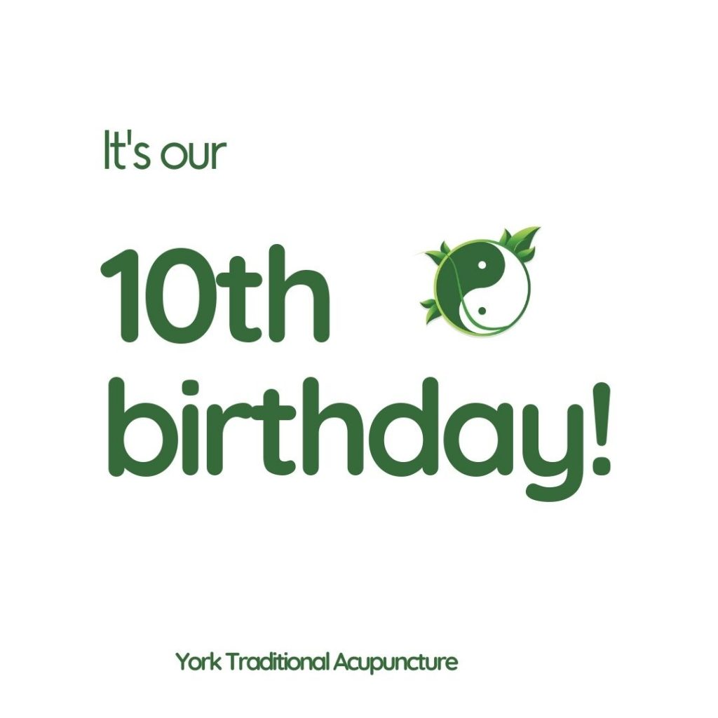 10th anniversary york traditional acupuncture